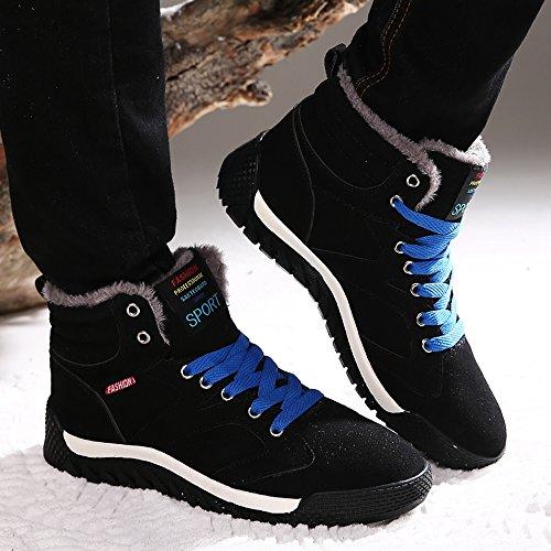 Classico Classico SITAILE SITAILE SITAILE Scarpe Scarponi Invernali Uomo da A Stivali Piatto Nero Neve Sneaker Pelliccia wSS5xErq