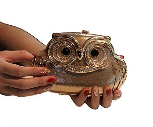 Women Mini Cute Owl Wedding/Party Evening Bag Clutch Bags by E-TDPAC