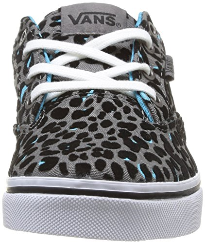 Vans Z Winston Low Mädchen Sneaker Grau - Gris (Flocked Cheetah Gray/Blue)