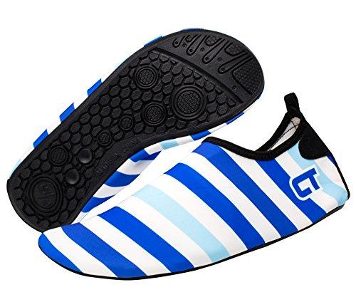 Giotto Barfuß Quick-Dry Frauen Männer Kinder Wassersport Schuhe Haut Aqua Socken für Schwimmen Beach Pool Surf Yoga C-blau