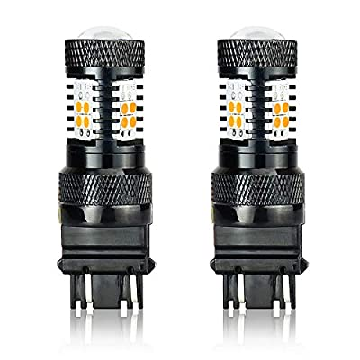 JDM ASTAR 3030 Chips High Power 3056 3156 3057 3157 4157 Amber LED Bulbs with Projector: Automotive
