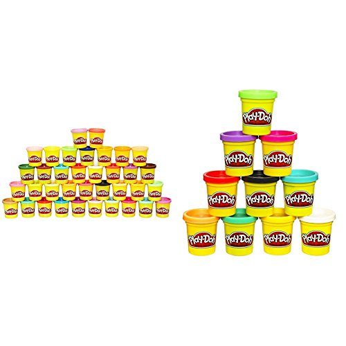 Play Doh 36 Can Mega Pack   Amazon Exclusive With Play Doh 10 Pack Of Colors  Amazon Exclusive  Bundle