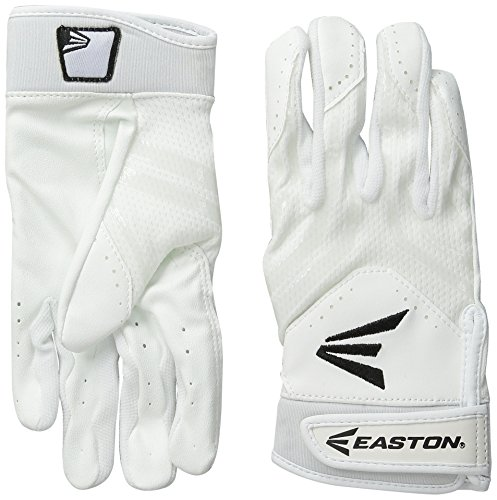 Easton HF3 Fastpitch Gloves, White/White, Large