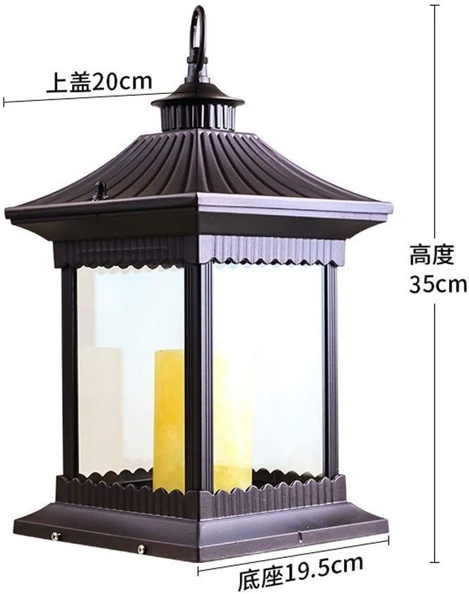 HEJY Lámpara de Mesa de Aluminio Externo Moderno jardín de Velas ...