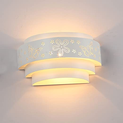 Sanyi Modern Wall Light Fixture 1-Light Butterfly Wall Sconce Edison ...
