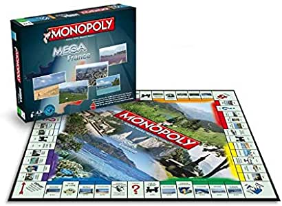Winning Moves – 0157 – Méga Monopoly Francia – Version Francesa: Amazon.es: Juguetes y juegos