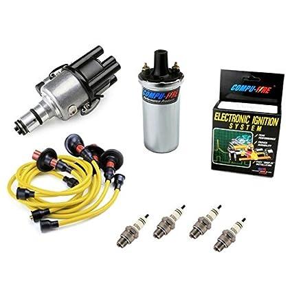 amazon com vw bug ignition kit 009 distributor w compufire,12vVw Bug Electronic Ignition Wiring #10