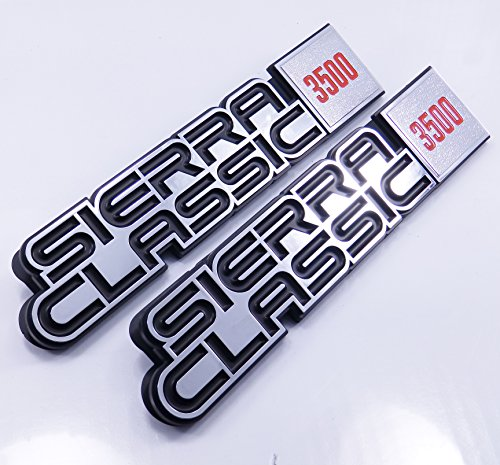 81 82 83 84 85 86 87 GMC Truck Sierra Classic 3500 C/K Fender Emblems Suburban Nameplate 2pc