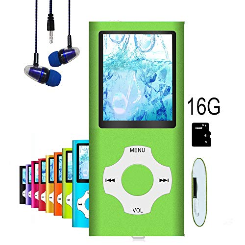 """MP3 Player / MP4 Player, Hotechs MP3 Music Player with 16GB Memory SD Card Slim Classic Digital LCD 1.82"""" Screen Mini USB Port with FM Radio, Voice Record …"""