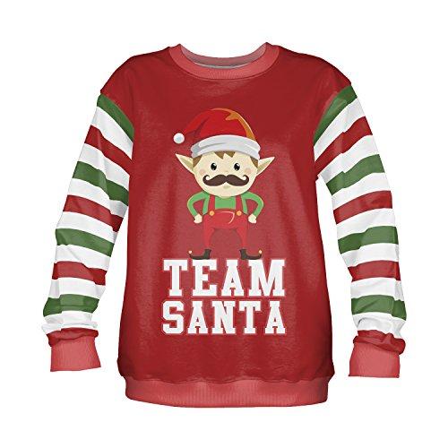 Sudadera para hombre Navidad Jersey para mujer Novelty Funny de Navidad Top Funky 81012 TEAM SANTA