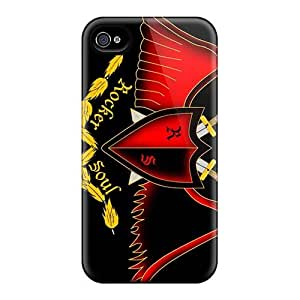 Scratch Resistant Cell-phone Hard Covers For Iphone 4/4s With Support Your Personal Customized Trendy Avenged Sevenfold Series DannyLCHEUNG
