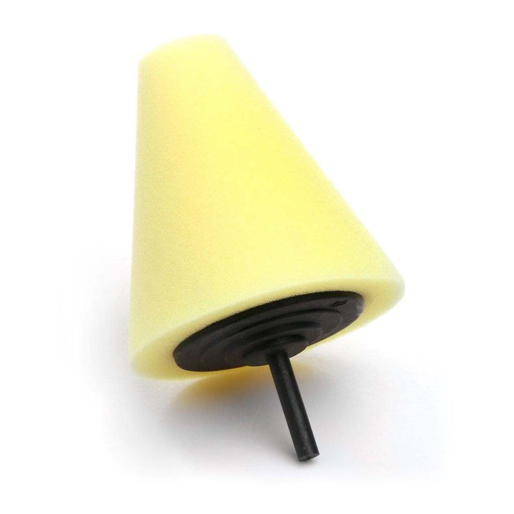 Kalttoy Burnishing Foam Sponge-Polishing Cone Shaped Buffing Pads for Car Wheel Hub Tool