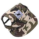 Pet Dog Hats Dog Baseball Cap Pet Dog Adjustable Outdoor Sport Sun Protection Baseball Cap (L, Camouflage)