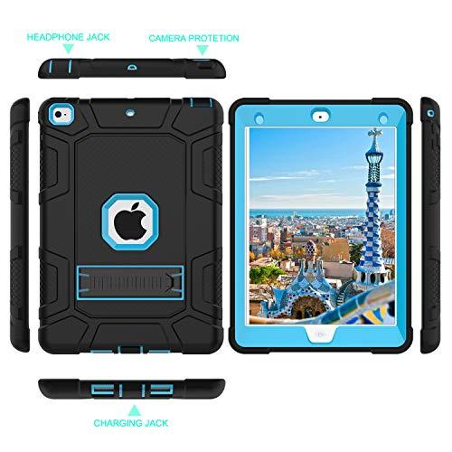 iPad Mini 5 Case, iPad Mini 4 Case, Hybrid Three Layer Armor Shockproof Rugged Drop Protection Cover Case Built with Kickstandfor iPad Mini 4/5 7.9 Inch