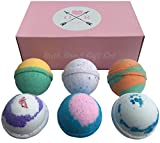 Bath Bomb Gift Set Usa Oliver Rocket 6-Piece Aromatherapy Bath Bombs Set, Extra Large, 4.5 Ounce Per Scent (Lavender, Cucumber Melon, Moonlight Rose, Grapefruit Tangerine, Black Raspberry Vanilla and Cool Water)