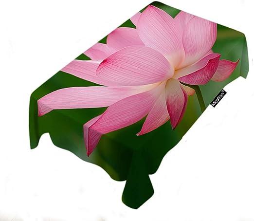 Amazon Com Moslion Lotus Tablecloth Home Decor Botanical Lotus