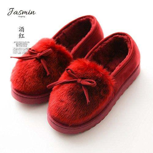 Cotone fankou home pantofole Bow Tie piccolo cotone fresco pantofole scarpe antiscivolo ed impermeabile