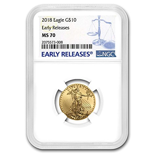(2018 1/4 oz Gold American Eagle MS-70 NGC (Early Releases) Gold MS-70 NGC )