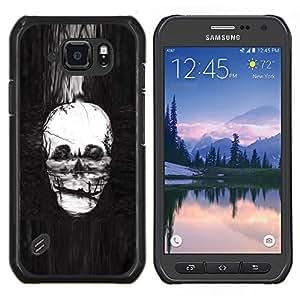 EJOOY---Cubierta de la caja de protección para la piel dura ** Samsung Galaxy S6Active Active G890A ** --Cráneo Pintura profundo Muerte Infierno Gondola