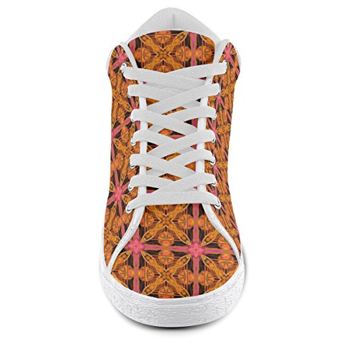 Snowflake For Model003 Chukka Star Pink Artsadd Shoes Peach Lattice Canvas Abstract Women PwnfCOIq