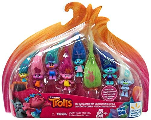 - Dreamworks Trolls Movie Exclusive Wild Hair Collection Pack (8 Mini Trolls), 1.25 Inches