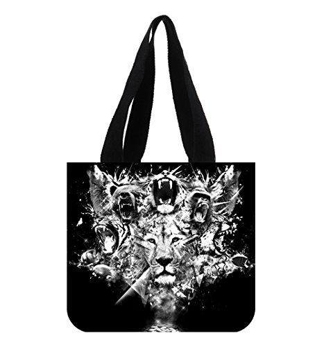 lions-with-shout-mouth-design-tote-bag-for-women-for-school