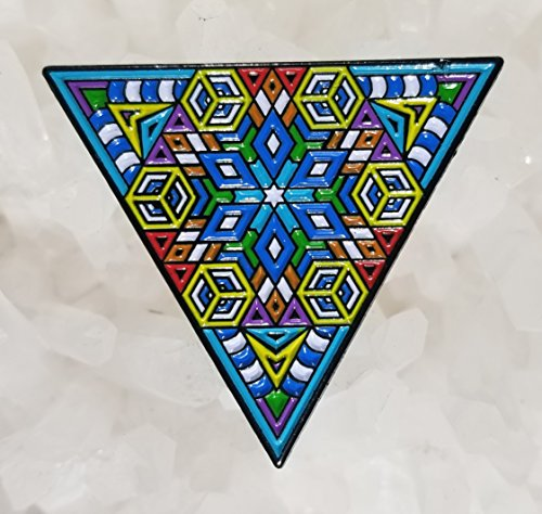 (Sacred Geometry Fractal Dream Triangle Enamel Hat Pin Limited Edition Numbered Festival Pin Grateful Dead Pin Dab Pin Disney Pin)