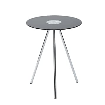 Pleasant Eggree Small Round Glass Table Black Coffee End Table Snack Andrewgaddart Wooden Chair Designs For Living Room Andrewgaddartcom