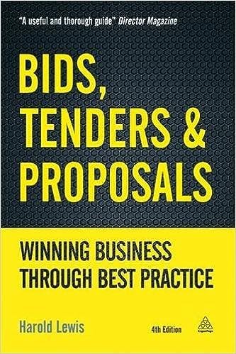 Pdf gratis download bøger bøger Bids, Tenders & Proposals: Winning Business through Best Practice by Harold Lewis MOBI 0749476435