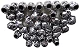 LeBeila Tibet Silver Skull Spacer Beads -Large Hole Skull Beads for Jewelry Making, Great DIY Accessories for Skull Necklace, Bracelets and Earrings Making, Perfect for Making Skull Bead Bracelet for Men with This Skull Beads Lots (40 Pieces)
