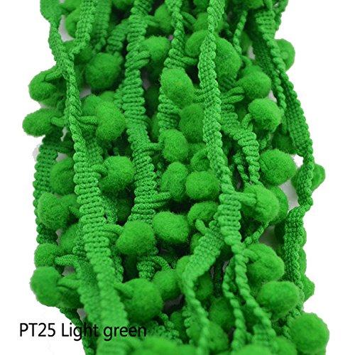 Yalulu 20Yards Mini Pom Pom Trim Ball Fringe Ribbon DIY Sewing Accessory Lace Trim for Pillow Curtains Home Decoration Navy Blue