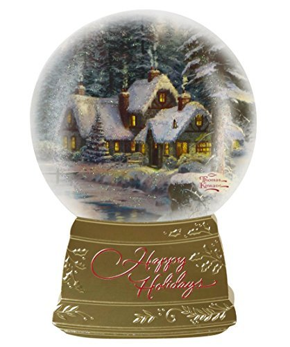 Hallmark Christmas Boxed Cards PX2682 Thomas Kinkade Snowglobe Happy Holidays