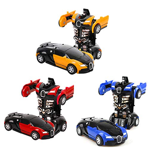 Egosy 3Piece Transformer Robot Car Control Remoto Transformers Auto & Robot Transformable Wall Climber Car con Led Y 360…