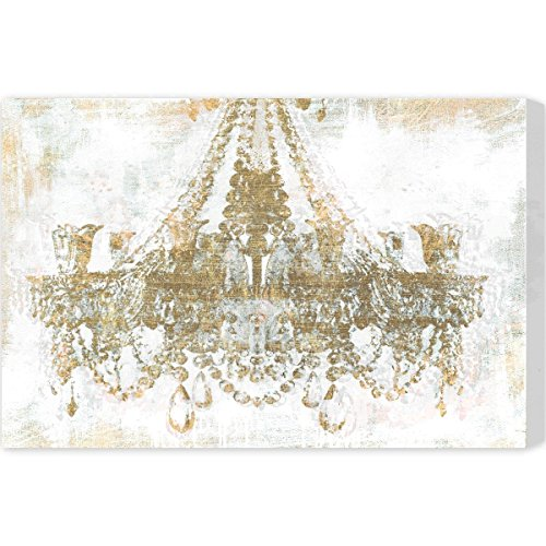 Gold Diamonds' Contemporary Canvas Wall Art Print for Home Decor and Office. The Classic Wall Decor Collection by The Oliver Gal Artist Co. Gallery Wrapped and Ready to Hang. 45x30 inch by The Oliver Gal Artist Co.
