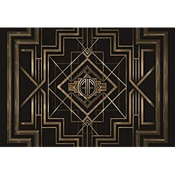 Baocicco 9x6ft Great Gatsby Theme Backdrops for Photography Black and Golden Retro Texture Background Luxury Party Crazy Carnival Happy Birthday Party ...