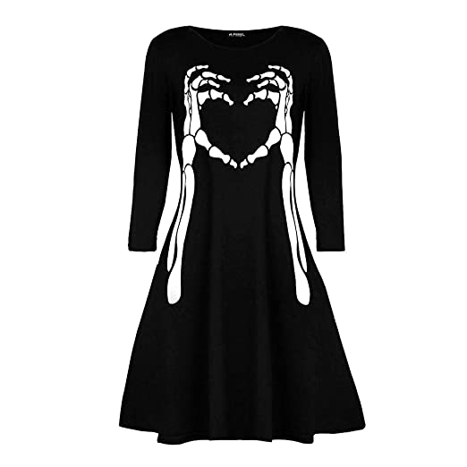 Vampire Halloween Swing Dresses for Women, Summer Casual Elegant E-Scenery Women Dress and