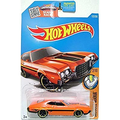 Hot Wheels, 2016 Muscle Mania, '72 Ford Gran Torino Sport [Orange] #122/250: Toys & Games