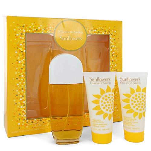 Sunflöwërs Perfume For Women Gift Set - 3.3 oz Eau De Toilette Spray + 3.3 Body Lotion + 3.3 oz Body Cream by sünflöwërs