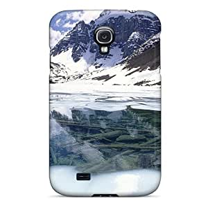 Galaxy S4 Case Cover - Slim Fit Tpu Protector Shock Absorbent Case (amazing Mountains Lake In Winter)