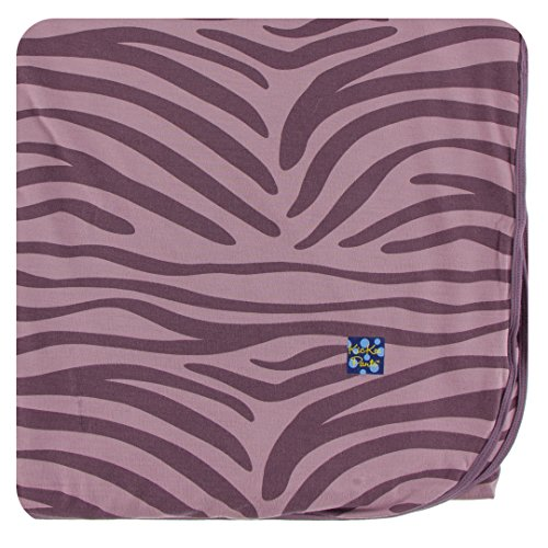 Receiving Zebra Print Blanket - Kickee Pants Print Throw Blanket - Elderberry Zebra Print, One Size