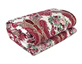 Factorywala Floral Print Soft and Warm Reversible Poly Cotton Single Bed Reversible Dohar/AC Comfort/Blanket ( Single Bed )