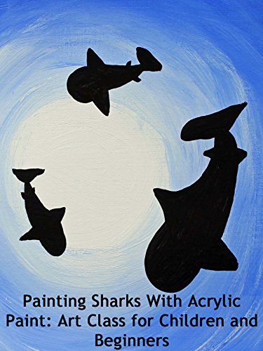 painting-sharks-with-acrylic-paint-art-class-for-children-and-beginners