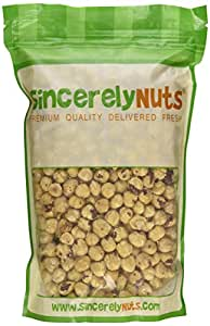Sincerely Nuts Blanched Hazelnuts (Filberts) Raw No Shell - Two Lb. Bag - Irresistibly Fresh and Delicious- Bursting with Health - Kosher