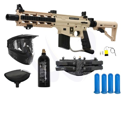 (Tippmann US Army Project Salvo Paintball Gun Starter Package - Tan)