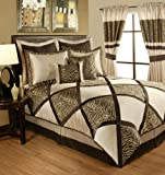 Sherry Kline True Safari 4-Piece Bedding Collection Set, Queen, Taupe