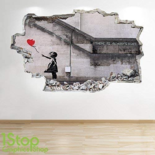 Banksy skirting board wall art bedroom living room lounge wall decal by UK/_SIGN/_SOLUTIONS Black, 20cm