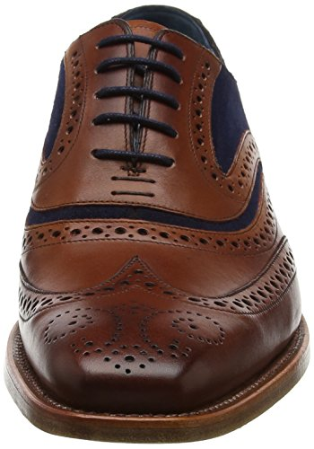 Marrone BARKER Navy Suede Calf Stringate Uomo McClean Scarpe Brouge Rosewood Fw23 Xw1qgFw
