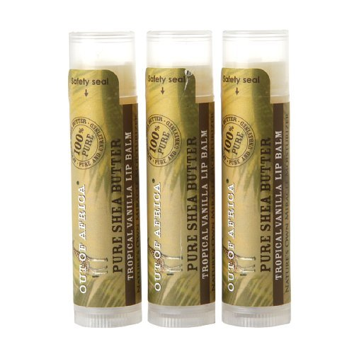 (Out of Africa Lip Balm, Tropical Vanilla, .15 oz ,3 count)