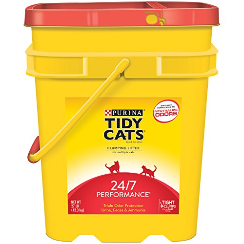 Tidy Cats Cat Litter Clumping 247 Performance 27-Pound Pail Pack of 1