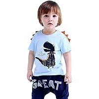 Little Boys Dinosaur Sweatshirt Toddler Tops Tee Shirt 3D Printed T Rex Fun Dino Baby Long Sleeve Pullover Clothes 1-7T
